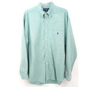 Ralph Lauren Green Big Shirt Oxford Button XXL